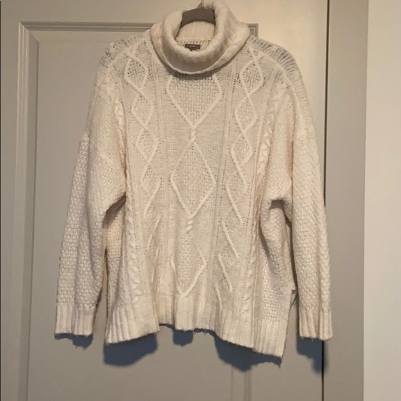 American Eagle Outfitters Sweaters - AE Cable Knit Turtleneck Oversized Sweater